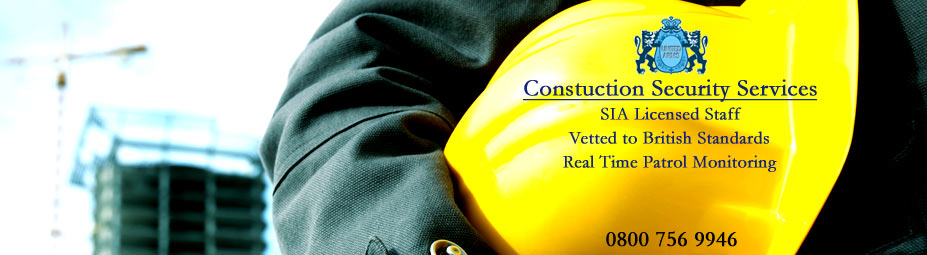 Construction Security::We have specialised security team that work with construction companies throughtout the UK, providing good value for money security services.