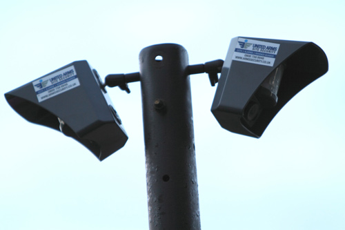 remote cctv on a pole